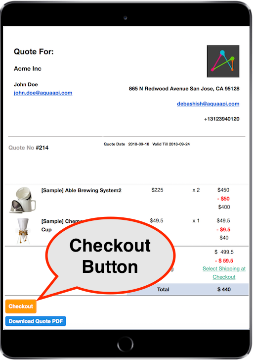 Email Checkout Button