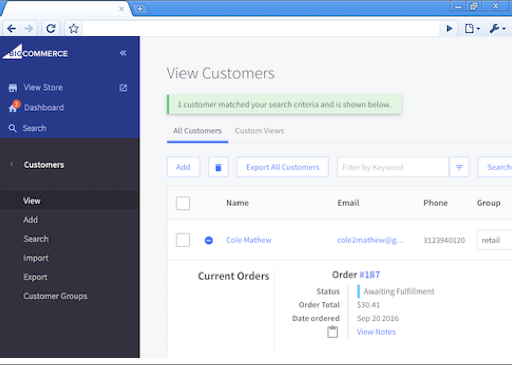 Sync orders to BigCommerce
